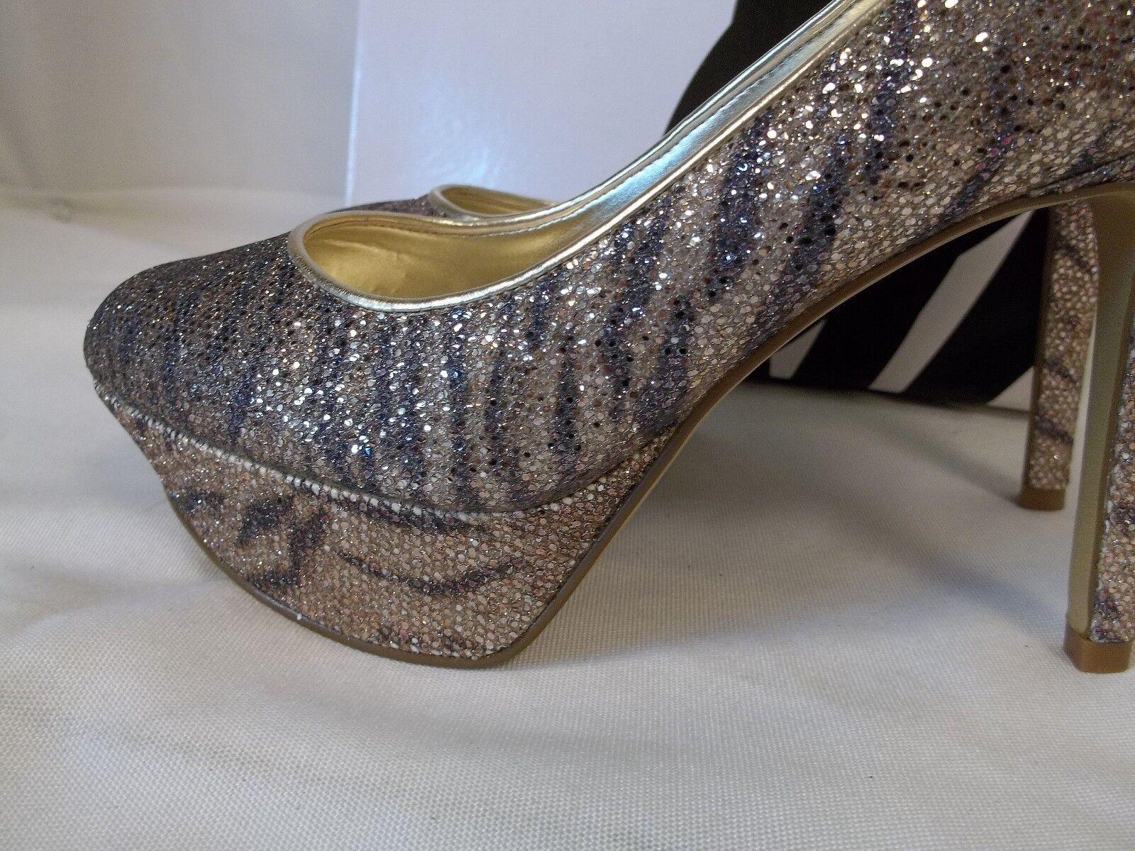 Nine West Taille 7.5 M Mendoza or argent argent argent Heels New femmes chaussures cad7f3