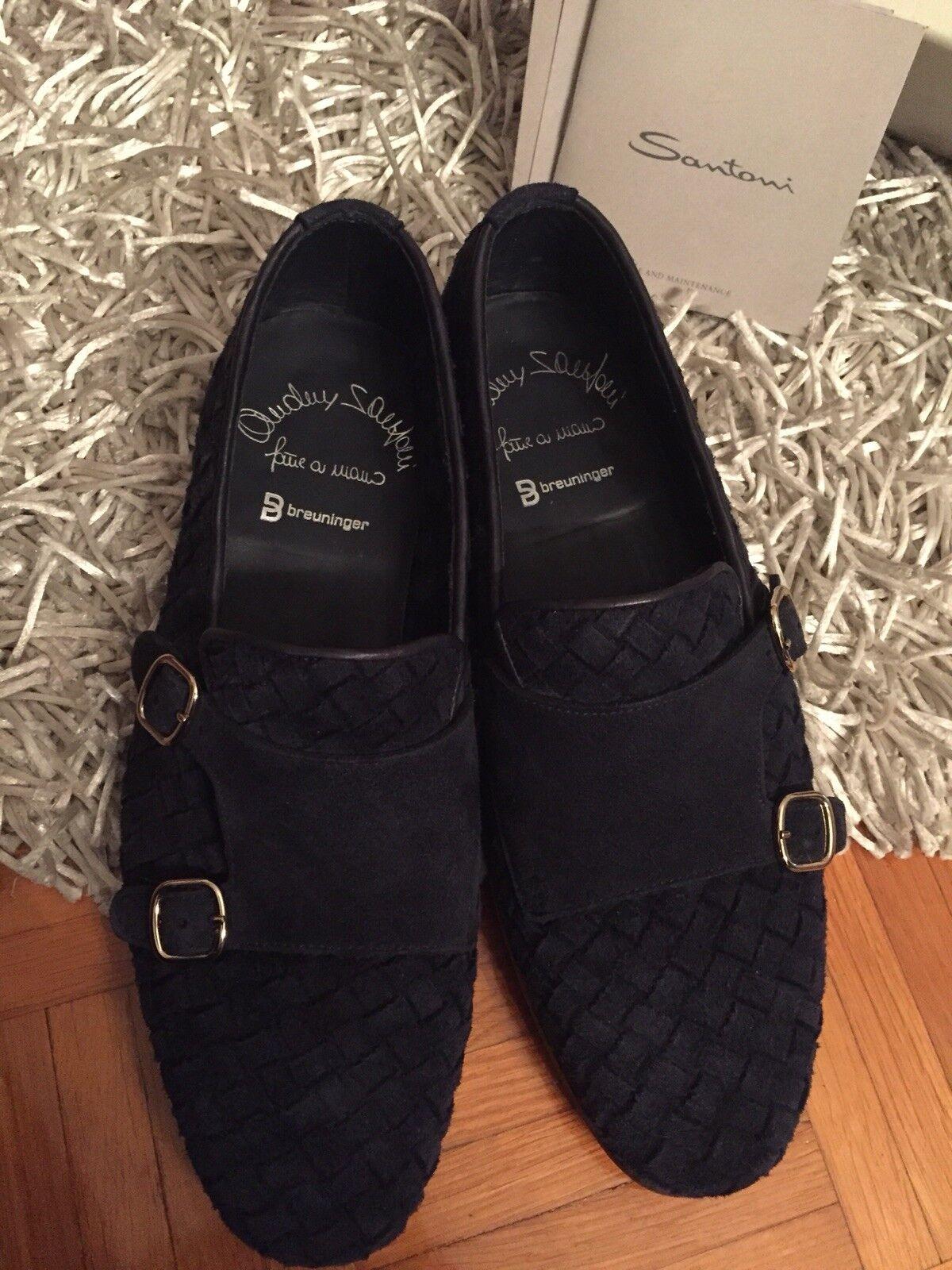 Santoni Herren dunkelblau Schuhe Gr.6,5 dunkelblau Herren Top 9917e6