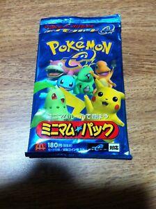 Japanese Pokemon Card Mcdonalds Minimum Pack Sealed Ebay