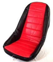 Low Back Seat Cover, Red, Fits Most Fiberglass Seats, Dunebuggy & Vw