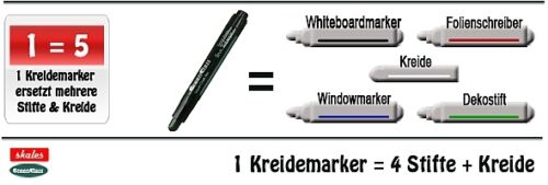 GRÜN für Whiteboard Flüssigkreide Stift Kreide Marker Tafel /& Board Kreidemarker
