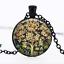 William Morris arbre en verre noir cabochon Chaîne Collier Sautoir Pendentif Wholesale