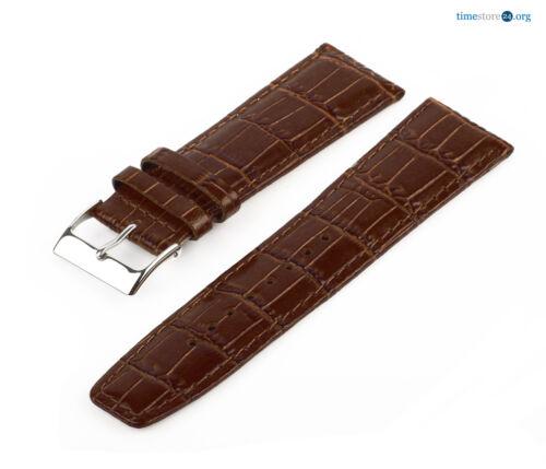 Lederarmband Braun MM11 Croco Uhrenarmband Armband Krokoprägung 7019648