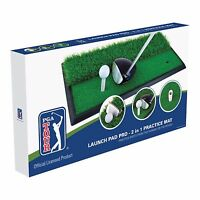 Pga Tour Launch Pad Pro 2 In 1 Practice Mat - Driving Golf Chipping Quality +dvd