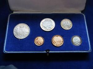 Australia-1966-PROOF-SET-6-Coins-in-Light-Blue-Case