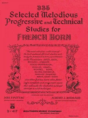 Brass Instruction Books, Cds & Video 335 Selected Melodious Progressive & Technical Studies For Horn Book 2 003770622 To Rank First Among Similar Products