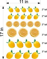 Sheet Of Lemon Decals To Decorate Your Juice Lemonade Stand Full Color Realistic