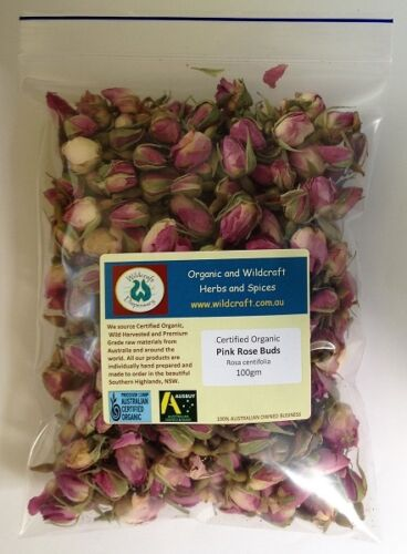 PINK ROSE BUDS 100g NATURAL DRIED Wedding Flowers Soap Candle Rosebuds Not Silk