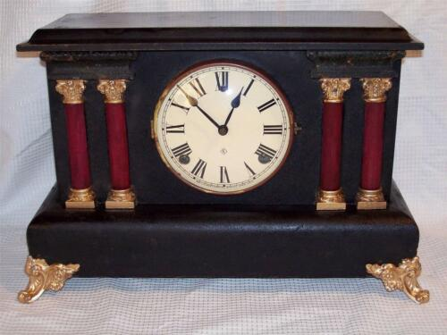 Antique Gilbert 8 Day Mantle Clock In Running Condition 1917