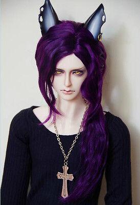 "1/3 8-9"" 1/4 7-8"" Dal Pullip BJD SD MSD DZ DOD LUTS dollfie Doll purple wig hair"