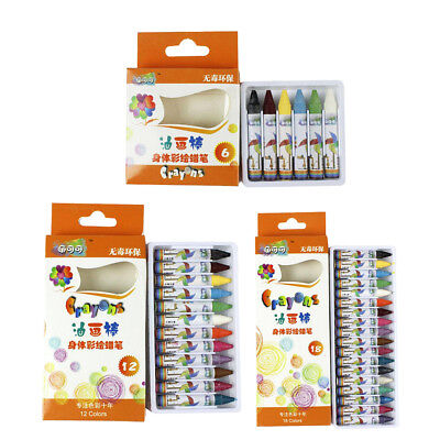 Face and Body Paint Crayon Sticks Assorted Colors Non-Toxic Food Grade