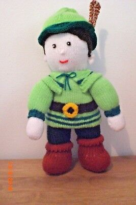 """Kind-Hearted Robin Hood A New Hand Knitted Doll/toy 37cm /14""""1/2inch Tall Dolls"""