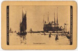 Playing-Cards-1-Single-Card-Old-LNER-Railway-Train-Advertising-Art-LOWESTOFT