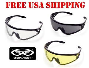 Details about GLOBAL VISION FOAM PADDED PYTHON RIDING GLASSES MOTORCYCLE  BIKER SUNGLASSES