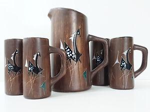 Respectueux Service A Orangeade En Ceramique 1960 1970 Chevaux Fantastiques Vintage 60s 70s Artisanat Exquis;