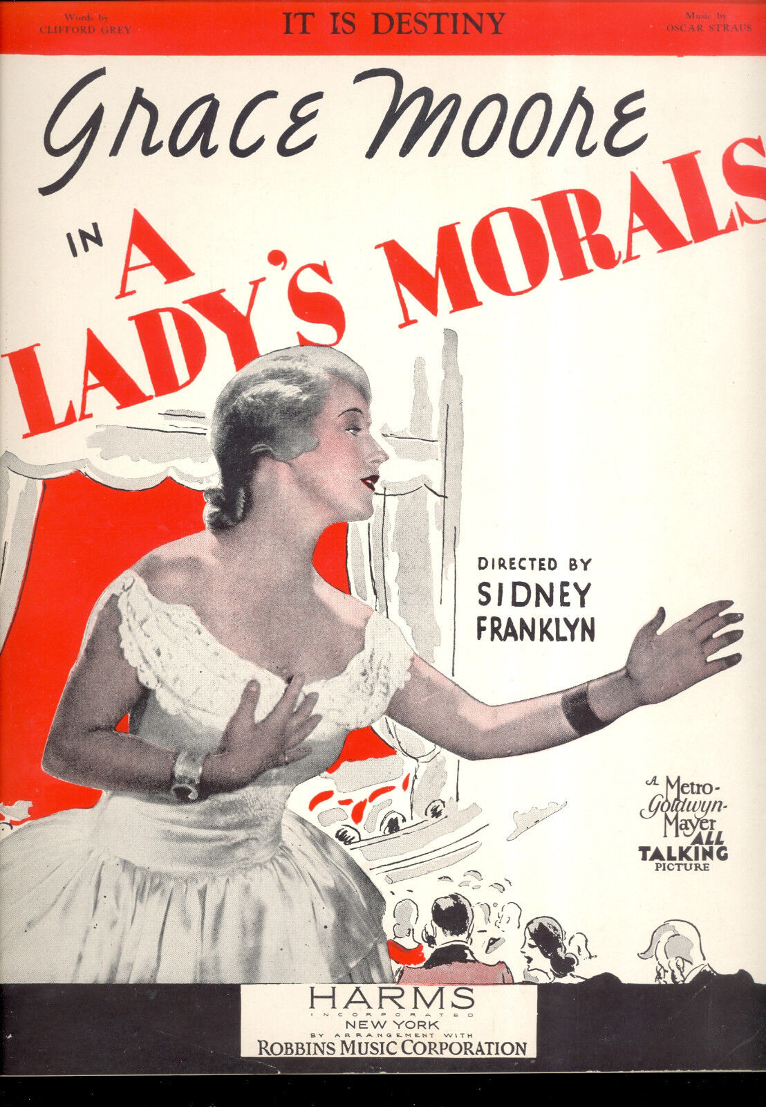 A LADY'S MORALS Sheet Music