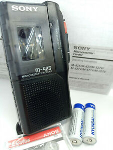 Sony-M-425-Pressman-MicroCassette-Voice-Recorder-Dictaphone-Dictation-Machine