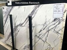 Marmortischplatte weiss Schwarz Geadert Abdeckung Kommode Nachttisch Schrank Neu