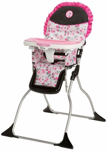 Disney Baby Minnie Mouse Simple Fold Plus High Chair 3-Position Tray Garden Deli