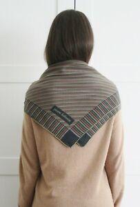 savingglory-PIERRE-BALMAIN-Vintage-Silk-Classic-Square-Scarf-Monogram-Logo-Wrap