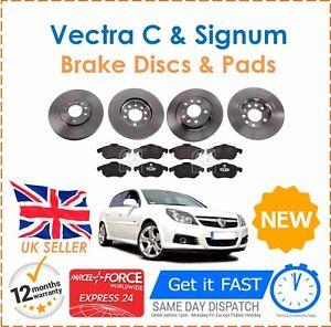 For-Vauxhall-Vectra-C-1-8-1-9-2-0-2-2-Front-amp-Rear-Brake-Discs-amp-8-Brake-Pads