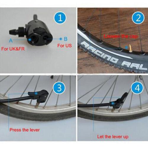 1Pc Bicycle Pump Parts Adapter Dual Head F//V A//V Schrader//Presta Valve Convertor