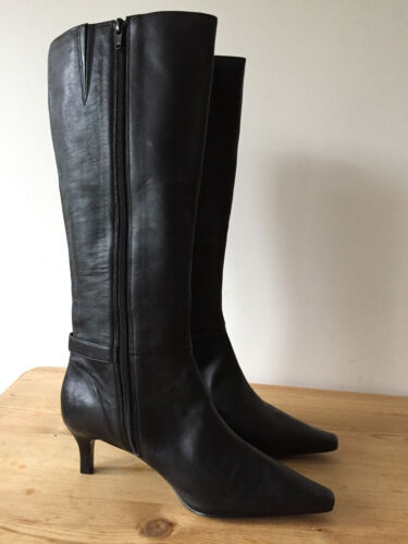 5 Boots Ladies High Leather Uk5 Black Burdal Knee 86wO0qxC