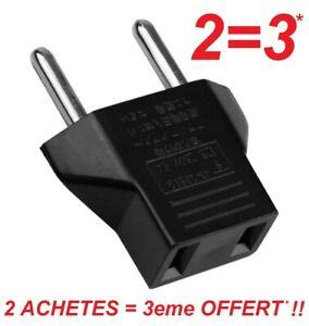 Etats-Unis/USA pour Européen Euro UE Chargeur de Voyage adaptateur Plug Outlet