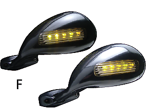 California style  Mirrors with LED turn signals