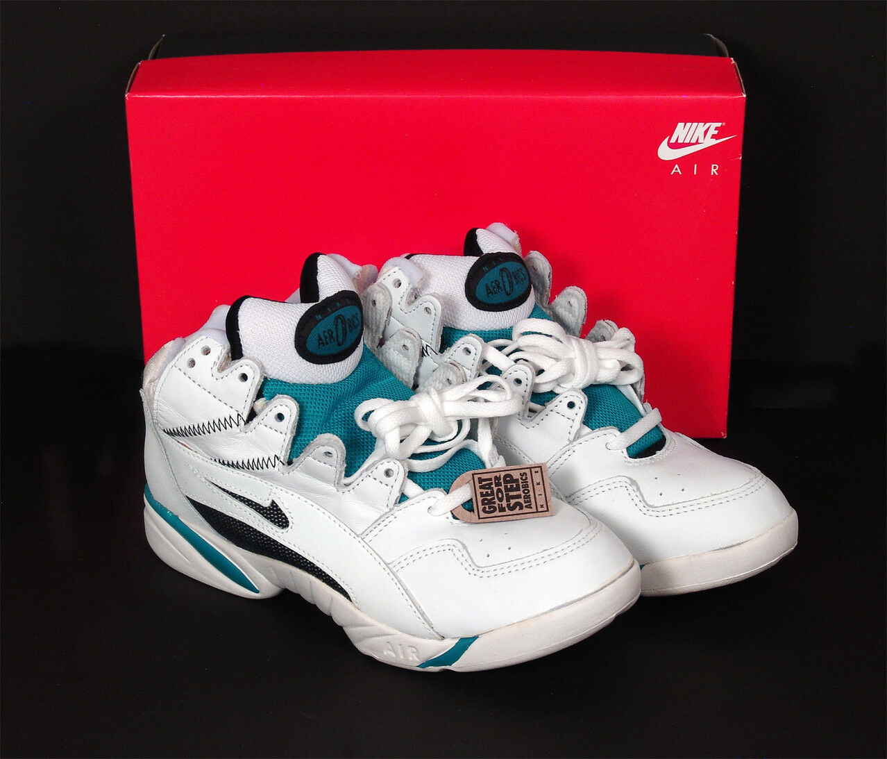 Authentic Original 1990s Nike Air Stat Repeater Aerobic Sneakers & Box Sz 7  NOS