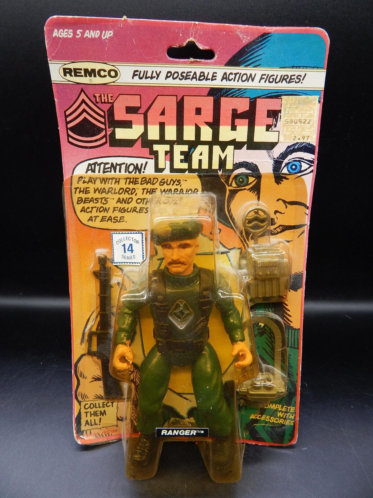 1982 vintage Remco SARGE TEAM Ranger MOC action figure DC motu RARE military toy