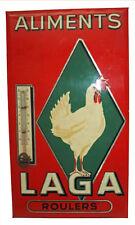 """thermomètre glaçoïde """" laga """" à la poule - vers 1960 - roulers belgique"""
