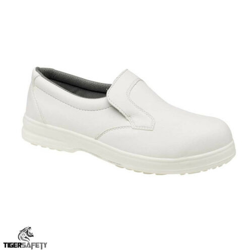 Toesavers P301 Mens White Slip On Slip Resistant Shoes Catering Kitchen Hospital