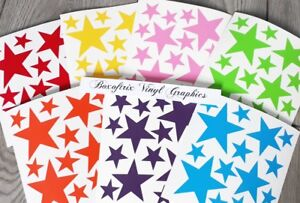 Rainbow-Of-Stars-Vinyl-Wall-Art-Stickers-Kids-Bedroom-Decals-7-colours-105-Stars