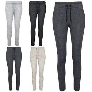 Bolsillo Lateral Para Mujer Senoras Pantalones Con Puno Gimnasio Jogging Mirada Denim Pantalones Basculador Ebay