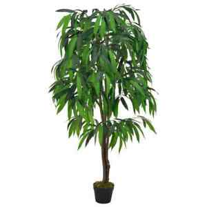 vidaXL-Artificial-Plant-Mango-Tree-with-Pot-Green-140cm-Realistic-Greenery
