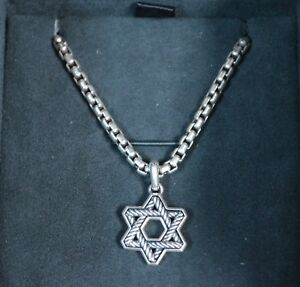 7fe383b9c0f5 Image is loading David-Yurman-Sterling-Silver-Cable-Star-of-David-