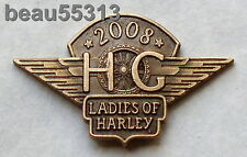LADIES OF HARLEY OWNERS GROUP HOG H.O.G. LOH 2008 105th VEST HAT PIN