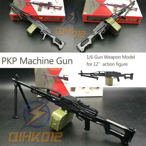 Machine Gun PKP Belt Box 4D Gun Weapon Model fit for 1:6 Scale Action Figure