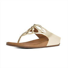 0b954431ce181 FitFlop Womens Sandals Bumble Crystal Toe Post Gold Size 10
