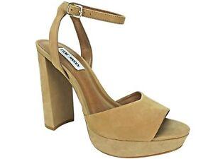 f40d33f029e Steve Madden Women s Britt Platform Sandals Camel Nubuck Leather ...