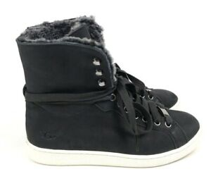 b919d8f0d9d Details about UGG Women's Starlyn Soft Suede Leather Lace-Up  Sneakers/Booties Black Multi Sz