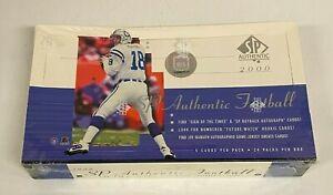 2000 Upper Deck SP Authentic Football Hobby Box Unopened - Tom Brady RC YR