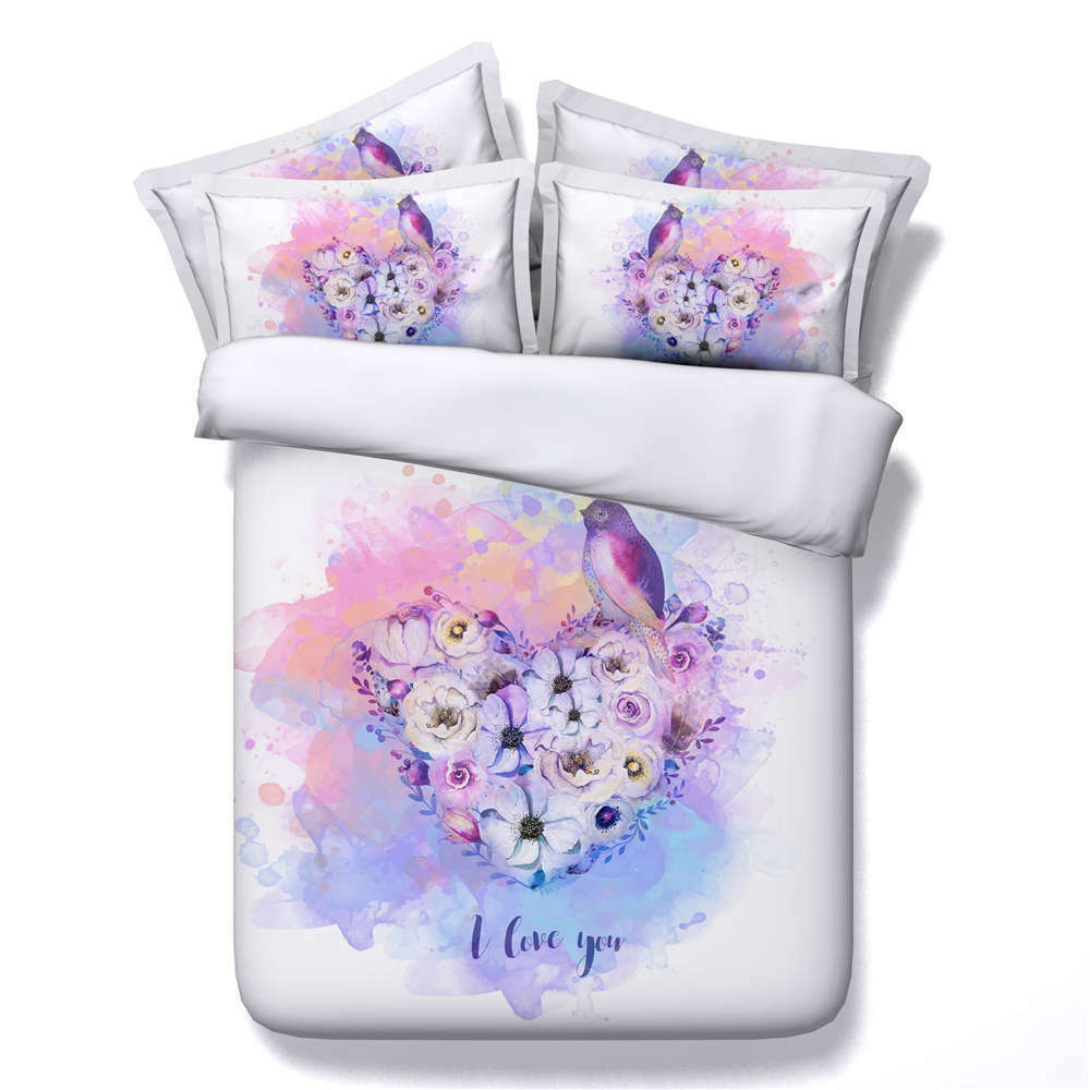 Farbeful Tulip 3D Printing Duvet Quilt Doona Covers Pillow Case Bedding Sets