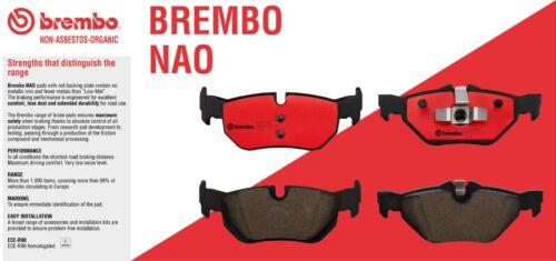 2 Pack Brembo Rear Brakes Disc Rotors Brake Pad Set Kit E53 For BMW x5 3.0i 4.4i