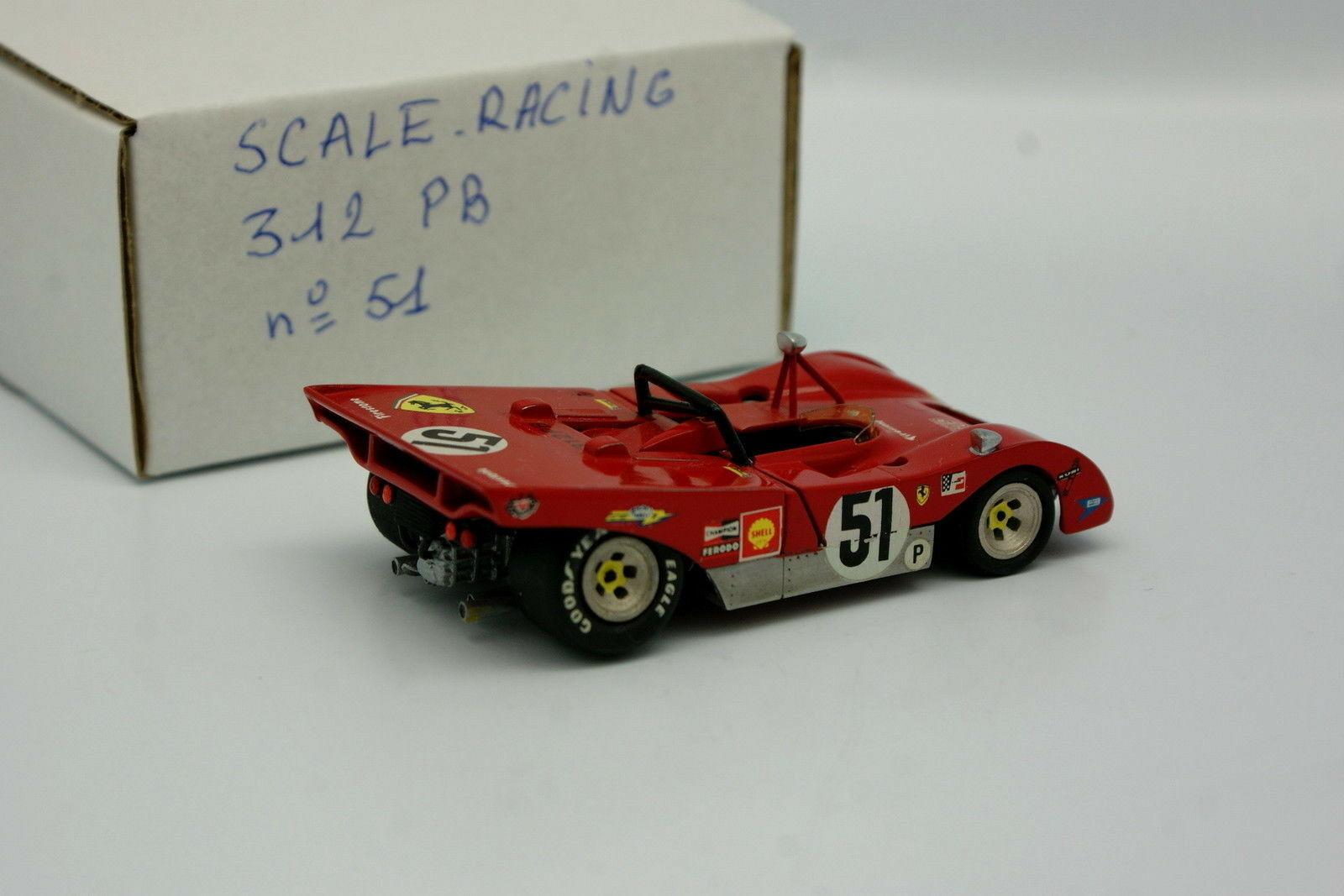 Scale Scale Scale Racing Kit Monté 1 43 - Ferrari 312 PB SEFAC N°51 Brands Hatch 1971 4699de
