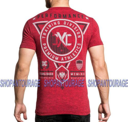 XTREME COUTURE Training Society X1711 Men`s New Red T-shirt By Affliction