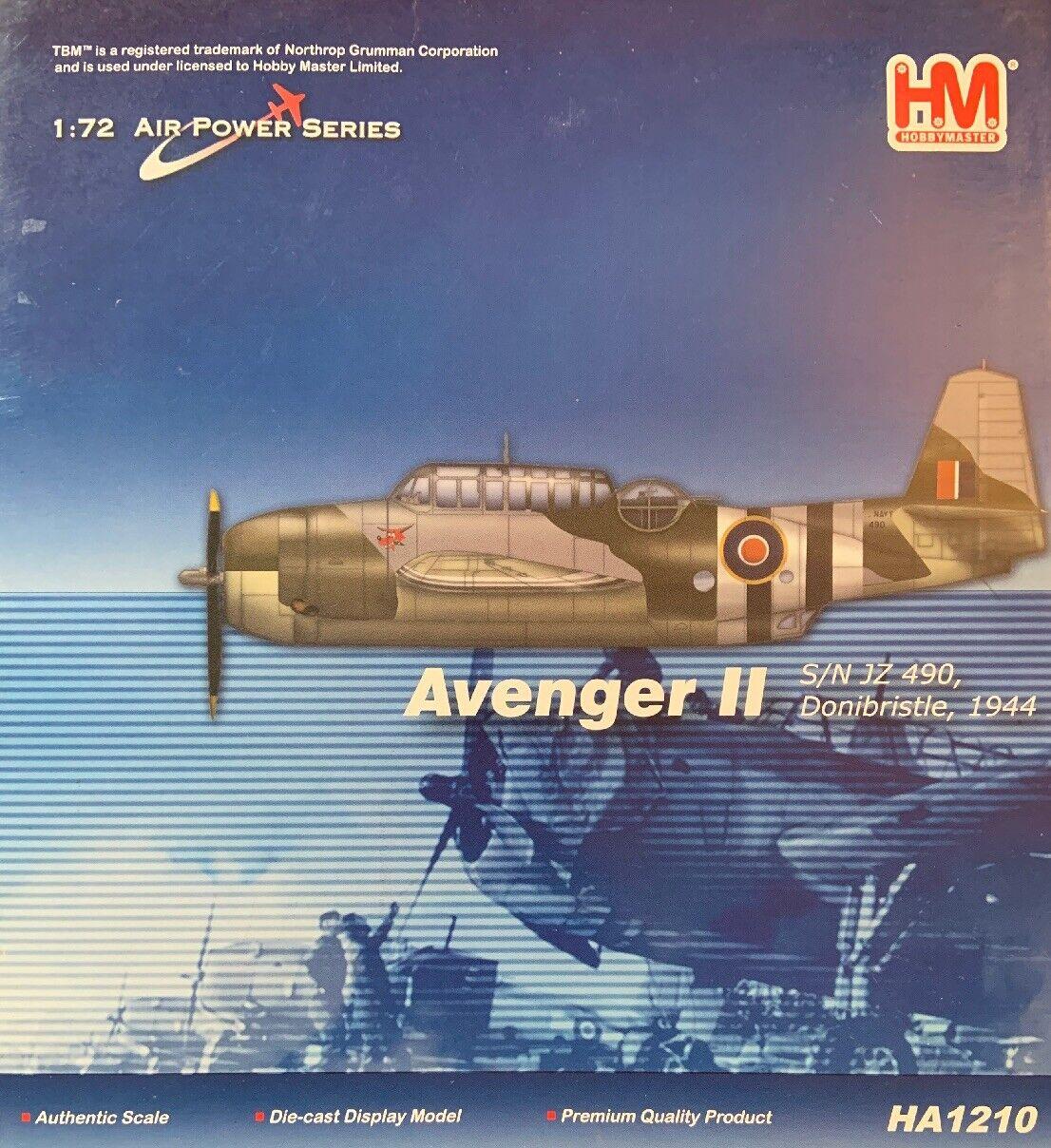 Hobby Master 1 72 Air Power Series HA1210 Grumman Avenger II, JZ-490, 1944