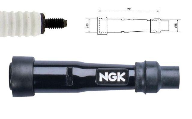 NGK Bujía de Encendido Tapa SD05F Resistor Funda SD05-F (Negro) (8022)