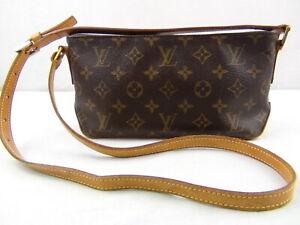 Us Seller Authentic Louis Vuitton Monogram Trotteur Bag Lv Purse Good Usable Ebay